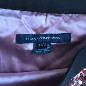 French Connection Skirts - French Connection Pink Sequin Pencil Skirt